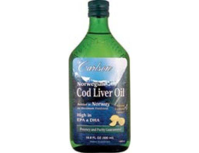 Carlson Norwegian Cod Liver Oil Lemon 500ml