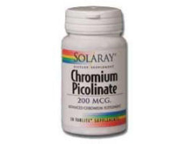 Solaray Chromium Picolinate 200mcg 100 tabs