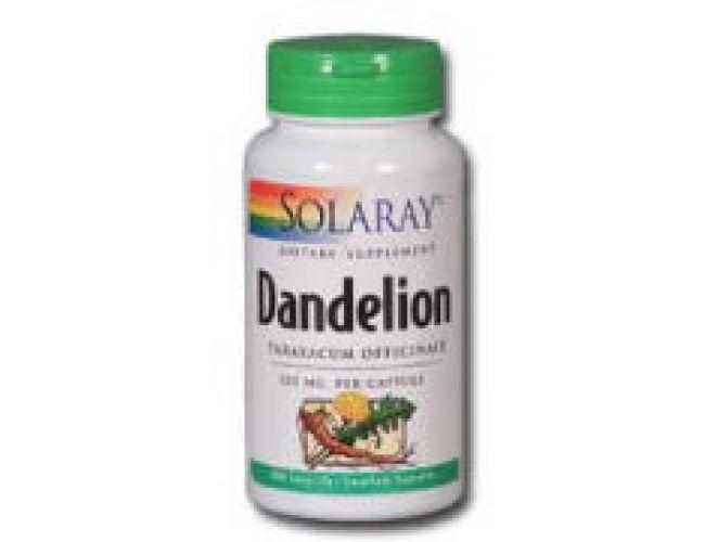 Solaray Dandeloin Root 520mg 100 Caps