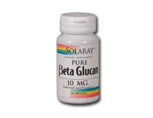 Solaray Beta Glucan 10mg Enhanced w/ Vitamin C 60 caps