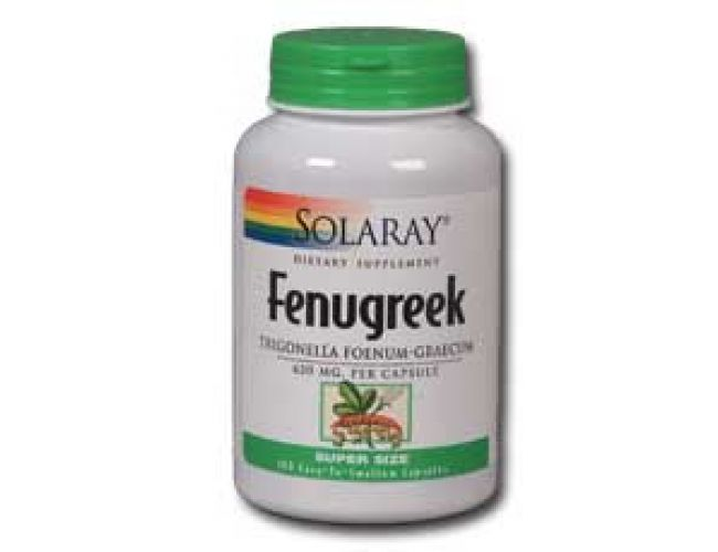 Solaray Fenugreek Seeds 620mg 100 Caps