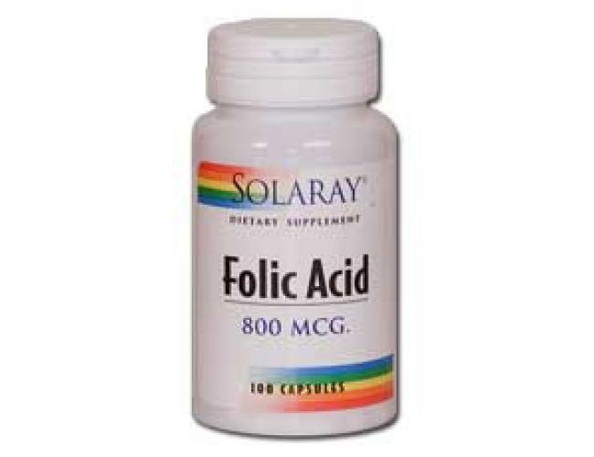 Solaray Folic Acid 800mcg 100 Caps