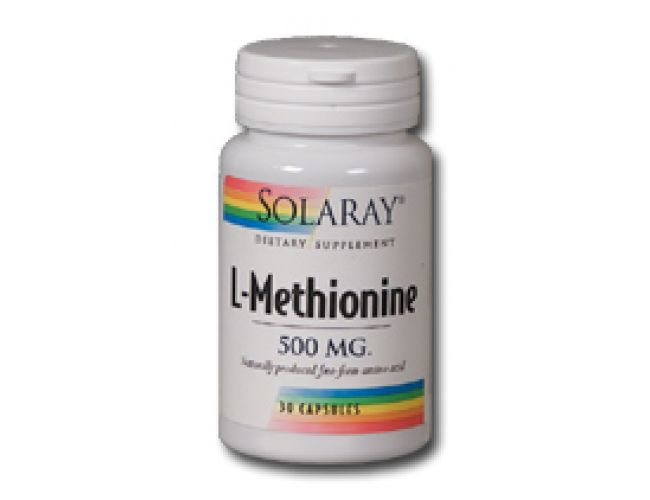 Solaray Free Form L-Methionine 500mg 30 Caps