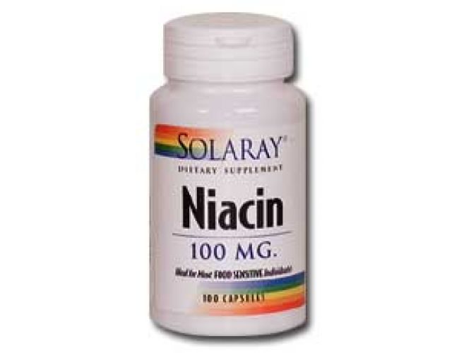 Solaray Niacin 100mg 100 caps