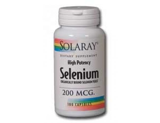 Solaray Selenium 200mcg (Organically Bound Selenium Yeast) 100 caps