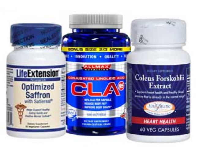 As Seen On TV Slim Down for Summer Stack (CLA, Forskolin & Saffron Extract)