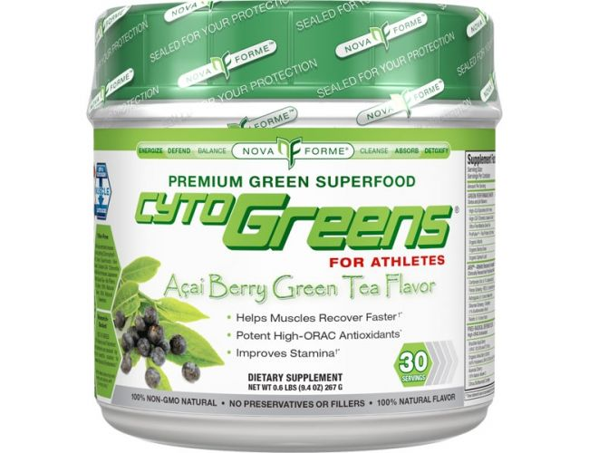 NovaForme CytoGreens For Athletes Acai Berry Green Tea 30 Servings