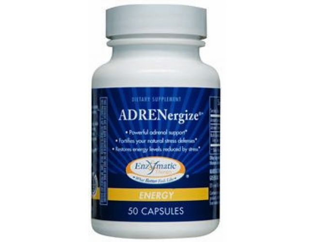 Enzymatic Therapy ADRENergize 50 Capsules (