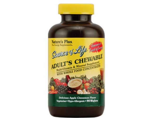 Nature's Plus Source of Life Multi Vitamin and Mineral  Adult Chewable 90 Wafers