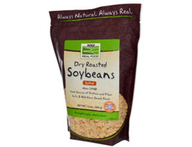 Now Foods Soybeans Dry Roasted Unsalted Non-GMO 12oz