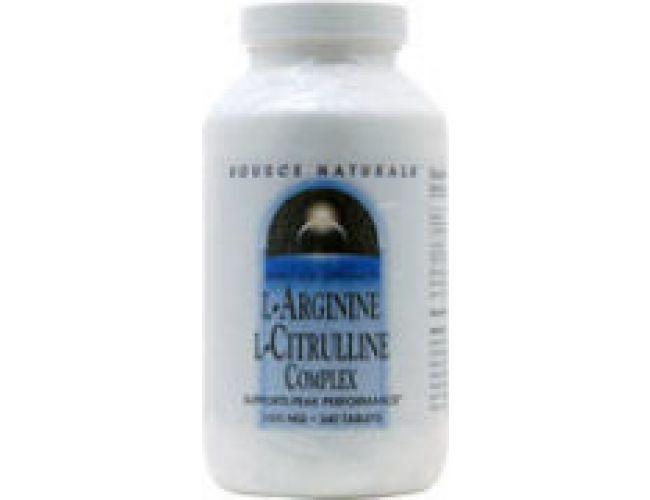 Source Naturals L-Arginine/L-Citrulline Complex 1000mg 240 Tabs