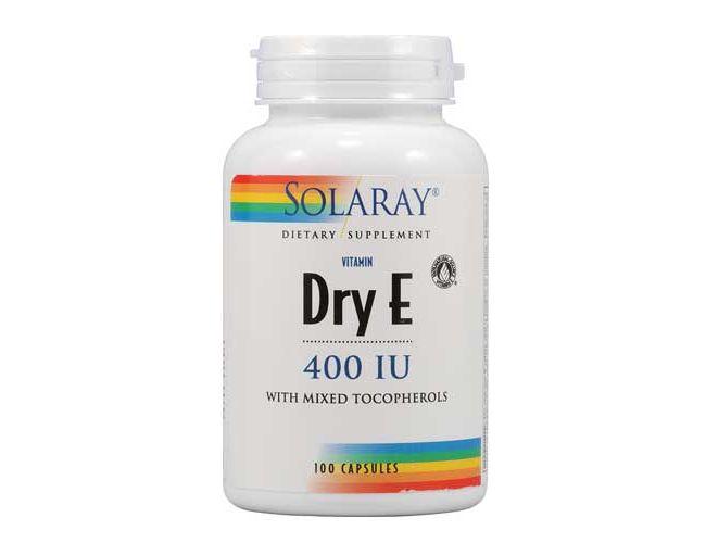Solaray Dry Vitamin E (Natural) 400 IU 100 Caps