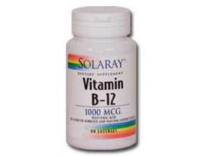 Solaray Vitamin B-12 (sublingual) 2000mcg Cherry 90 Lozenges