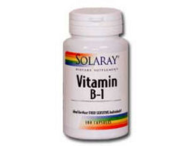 Solaray Vitamin B-1 100mg 100 caps