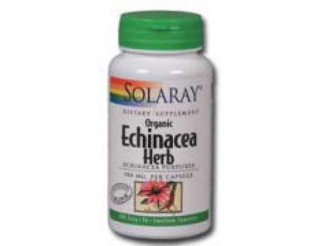Solaray Organic Echinacea Herb 380mg 100 Caps
