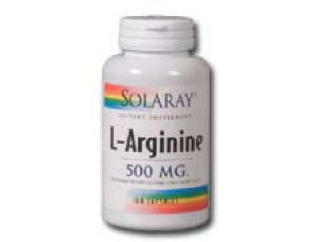 Solaray L-Arginine 500mg 100 Caps