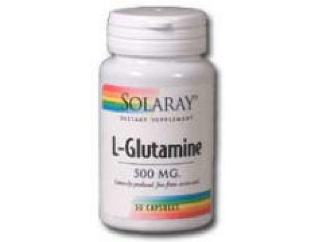 Solaray L-Glutamine 500mg 100 Caps