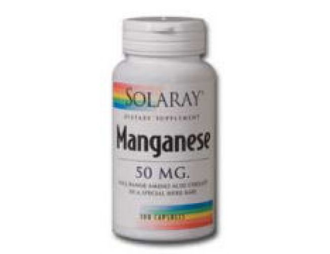 Solaray Manganese 50mg 100 Caps