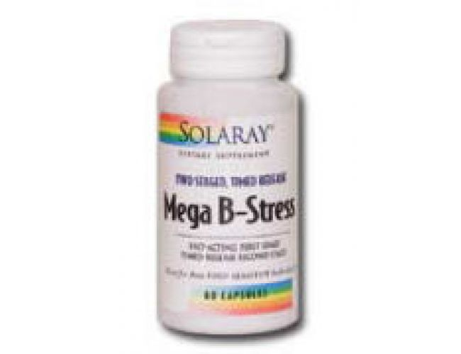 Solaray Mega B-Stress Two Staged, Timed Release 120 Caps