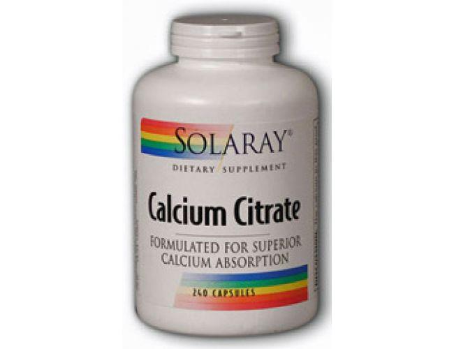 Solaray Calcium Citrate 250mg 240 Caps