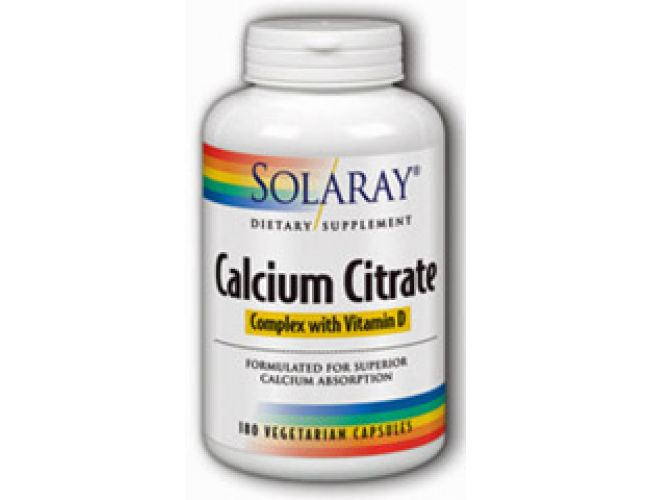 Solaray Calcium Citrate w/ Vitamin D 180 Caps