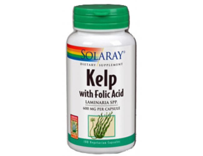 Solaray Kelp with Folic Acid 550mg 100 Caps