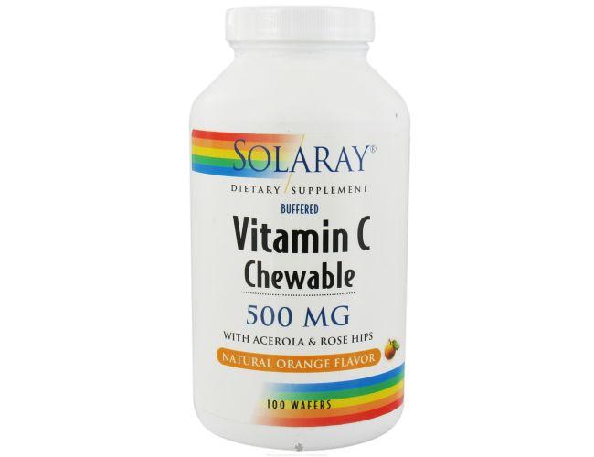 Solaray Chewable Vitamin C Orange 500mg 100 Chews