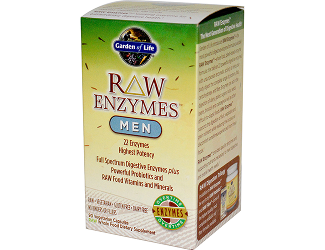 Garden of life raw enzymes men 90 vege caps for Garden of life raw cleanse reviews