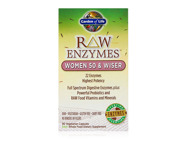 Garden of life raw enzymes women 50 and wiser 90 vege caps for Garden of life raw cleanse reviews