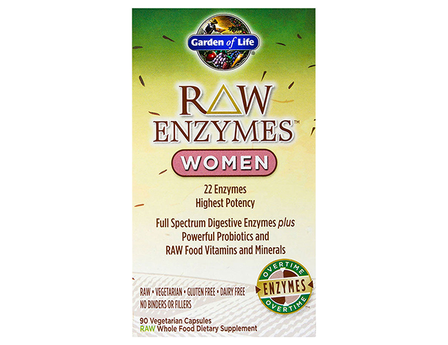 Garden of life raw enzymes women 90 vege caps for Garden of life raw cleanse reviews