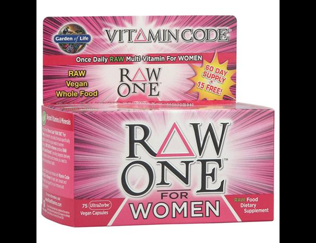 Garden Of Life Vitamin Code Raw One For Women 39 S Multi Vitamin Probiotic 75 Caps