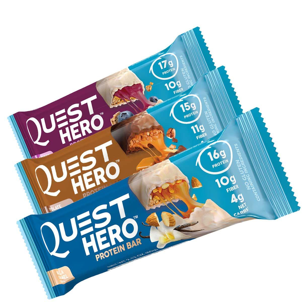 Hero protein bars by quest nutrition 10 box for Muscle food quest bar