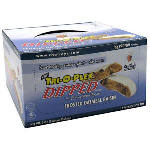Chef Jay's Tri-O-Plex Dipped Cookies Frosted Oatmeal Raisin 12 - 3 oz. (85g)