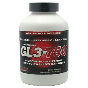 AST GL3-750mg Micronized Glutamine 500 Caps
