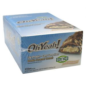 ISS Research OhYeah! Bar Cookie Caramel Crunch 12 - 1.59 oz (45 g) bars [19.08 oz (1.19 lbs)]
