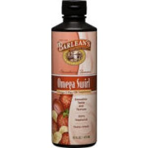 Barlean's Omega Swirl Omega-3 Flax Oil Supplement Strawberry Banana 16 Fl Oz