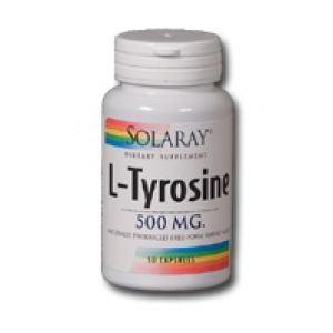 Solaray Free Form L-Tyrosine 500mg 50 Caps
