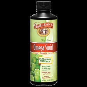 Barlean's Omega Swirl Ultra High Potency Omega-3 Fish Oil Supplement Key Lime 16 Fl Oz