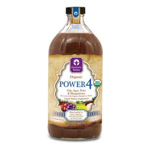 Genesis Today Power4 100% Goji, Acai, Noni and Mangosteen Juice Liquid Dietary Supplement 32 oz