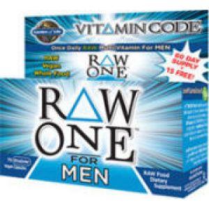 Garden of Life Vitamin Code Raw One for Men 75 Caps