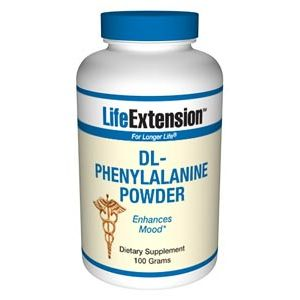 Life Extension D,L-Phenylalanine 100 grams