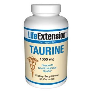 Life Extension Taurine 1000mg 50 Caps