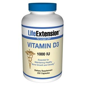 Life Extension Vitamin D3 1000 IU 250 Softgels