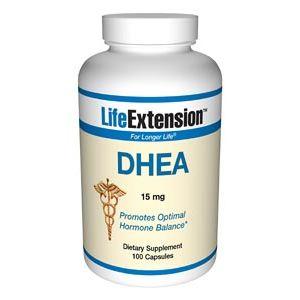Life Extension DHEA (Dehydroepiandrosterone) 15mg 100 Caps