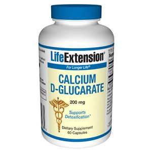 Life Extension Calcium D-Glucarate 200 mg 60 Vege Caps