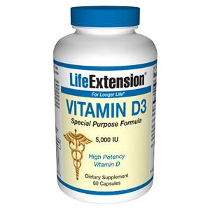 Life Extension Vitamin D-3 5000IU 60 Caps