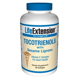 Life Extension Tocotrienols with Sesame Lignans 60 Softgels