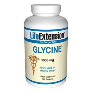 Life Extension Glycine 1000mg 100 Vege Caps