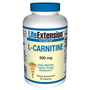 Life Extension L-Carnitine 500mg 30 Vege Caps