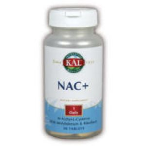 Kal NAC+ (N-Acetyl Cysteine) 600mg 30 Tabs